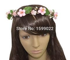 hair decoration shabby chic handmade pink flower crown headband updo