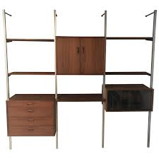 fantastic walnut george nelson omni storage wall unit css at 1stdibs