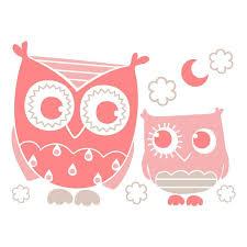 stickers pour chambre bébé fille sticker mural chouettes motif bébé fille pour chambre
