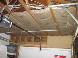 garage rescue insulating ceiling space woman with a