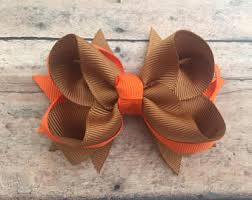baby bow boutique fall hair bow etsy