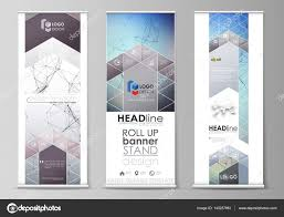 Geometric Flag Roll Up Banner Stands Abstract Geometric Design Templates