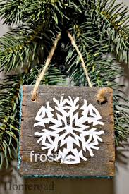 easy rustic snowflake ornaments organized clutter