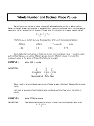 Place Value To Hundred Thousands Worksheets Decimal Place Value Chart 3 Free Templates In Pdf Word Excel
