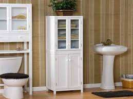 White Wooden Storage Cabinet With Drawers And Door High White Wooden Cabinet With Glass Door And Drawers Also Shelf