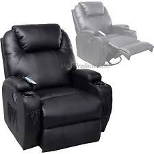 Ergonomic Recliner Chair Esright Massage Recliner Chair Heated Pu Leather Ergonomic Lounge