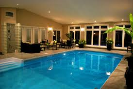 furniture house pool lighting night big houses pools inside