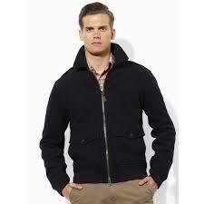 Wool Bomber Jacket Mens Polo Ralph Lauren Grange Wool Bomber Jacket In Blue For Men Lyst