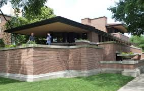 frank lloyd wright architectural style with awesome cornerstone of