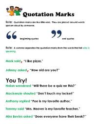 using quotation marks correctly creative teaching packet tpt