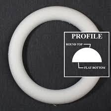 styrofoam wreath flat back extruded styrofoam wreath styrofoam basic craft