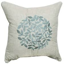 country solid embroidery linen decorative pillow cover cushions