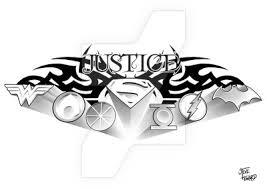 justice tattoo by stevenhoward on deviantart