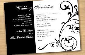 Wedding Invitation Design Black And White Wedding Invitations Kawaiitheo Com