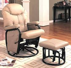 Glider Recliner With Ottoman Bone Leather Glider Rocker With Ottoman Recliners