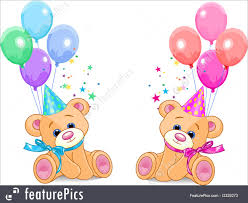 teddy bears in balloons illustration of teddy bears