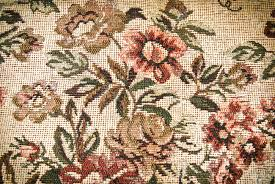 fragment of retro tapestry fabric pattern with colorful floral