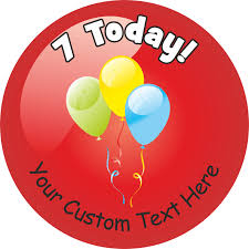 birthday stickers happy 7th birthday stickers variety pack