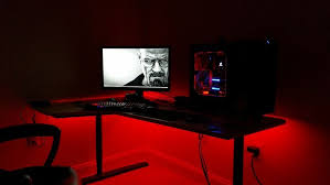 led light desk l gaming computer desk led lights office home accent lighting for led