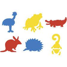 wooden letter templates stencils templates letter stencils officeworks educational colours australian animals stencils set 2