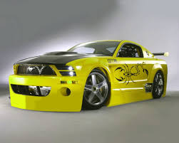 modded sports cars yellow mustang modified modified cars pinterest mustang