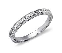 engraved wedding rings engraved micropavé diamond ring in 14k white gold 1 5 ct tw