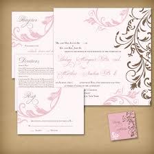 Classic Invitation Card Wedding Invitation Designs Rectangle Beige Blue Floral Pattern