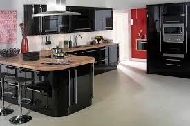 cuisine noir laqué pas cher cuisine noir laque avec ilot id es patio a pas cher