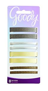 goody barrettes goody hair barrettes metal assorted colors 3 count