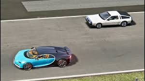 future bugatti bugatti chiron vs delorean back to the future monza youtube