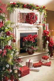 Christmas Decoration Ideas Fireplace 1058 Best Christmas Mantels Images On Pinterest Christmas
