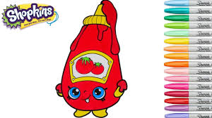 shopkins coloring book tommy ketchup season 1 episode rainbow