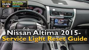 nissan altima 2015 service light reset youtube