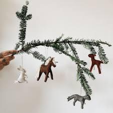diy felt animal ornaments kin journal