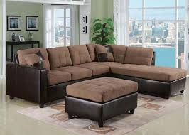 Reversible Sectional Sofa Chaise Acme 51330 Milano Saddle Reversible Sectional Sofa With Chaise Ebay
