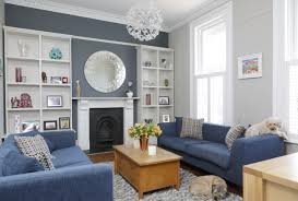 Classic Interior Design Blue Color Decoration Ideas For Living Room Small Design Ideas