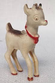 vintage plastic novelty ornament rudolph the