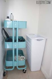 ikea rolling cart ikea raskog rolling cart in neutral bathroom illistyle com