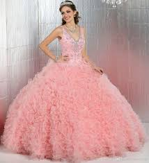 quince dama dresses pink quinceanera dresses 2017 new arrive v neck sparkly