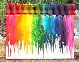 How To Take Crayon Off Walls by How To Make Rainbow Melted Crayon Art