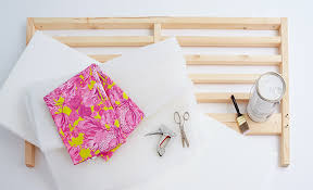 Ikea Tarva Bed Diy Upholstered Headboard Emily Henderson