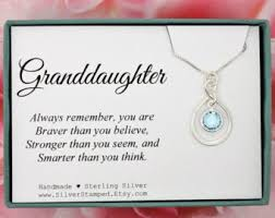 granddaughter jewelry granddaughter gift etsy