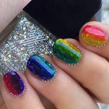 30 rainbow nail art ideas art and design