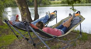 up your relaxation level with this guide gear portable folding hammock