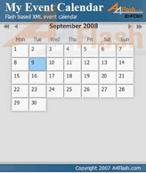 a4desk event calendar flash calendar flash event calendar