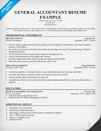 general accountant resume sample resume samples across all