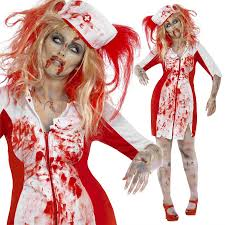 curves zombie nurse costume ladies halloween fancy dress