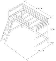 Metal Loft Bed With Desk Assembly Instructions Your Zone Twin Wood Loft Bed Multiple Colors Walmart Com