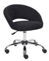 Vanity Stool On Wheels Modern Black Velvet Swivel Vanity Chair With Hoop Backrest Of