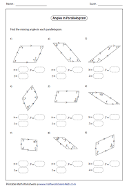 missing angles in quadrilaterals worksheet free worksheets library